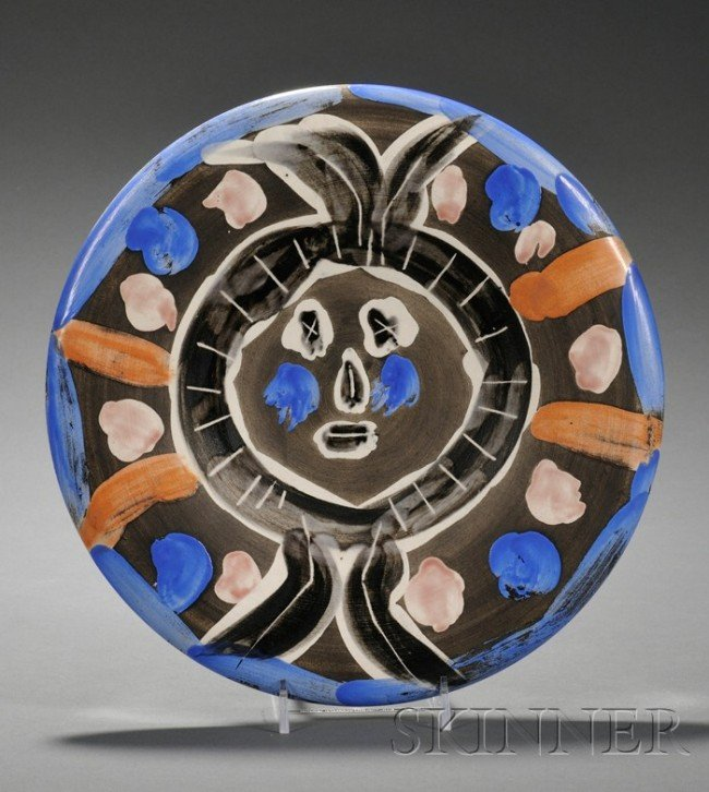 90: Picasso Madoura Pottery Plate, France, mid 20th cen