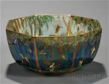 417: Wedgwood Fairyland Lustre Octagonal Bowl, England,