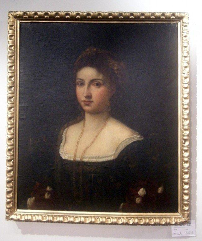 518A: Continental School, After Titian Copy of La Bella