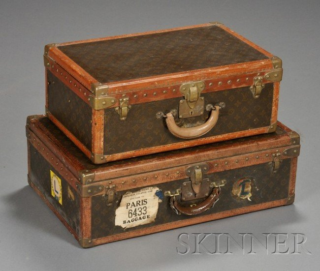 603: Two Louis Vuitton Valises, early 20th century, bot