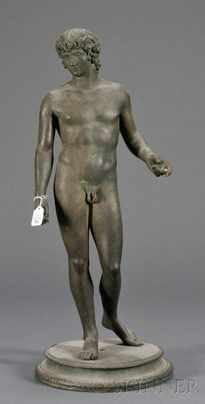 982: Italian School Bronze Model of a Standing Youth, 1