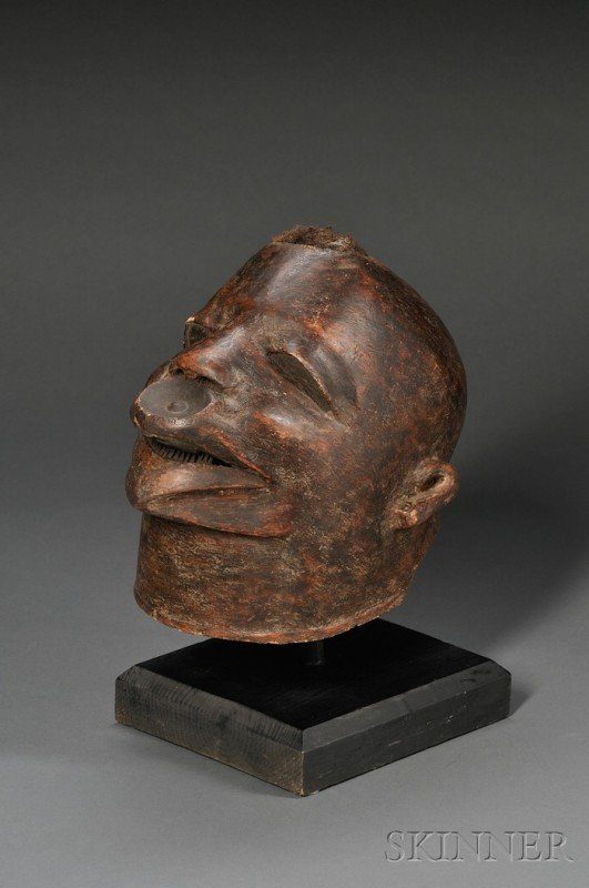 202: African Carved Wood Headdress, Makonde, Mapiko, in
