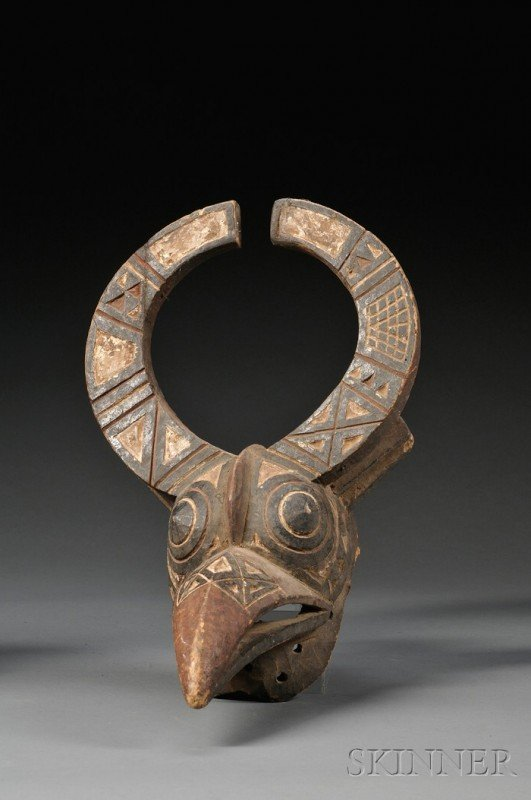 207: Bobo Carved and Painted Wood Antelope Mask, the st