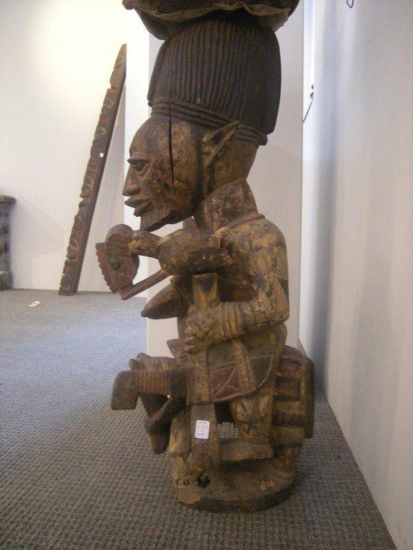 218: African Carved Wood Shrine Figure, Yoruba, attribu - 2