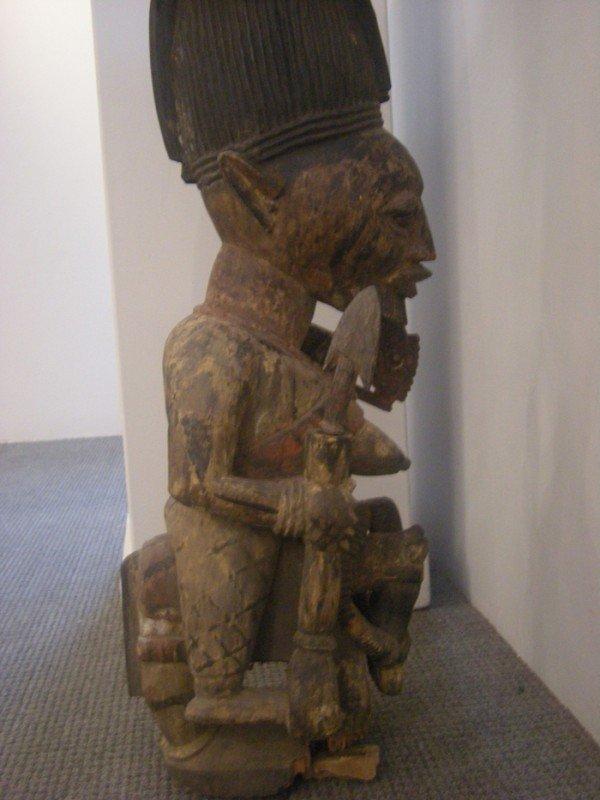 218: African Carved Wood Shrine Figure, Yoruba, attribu - 5