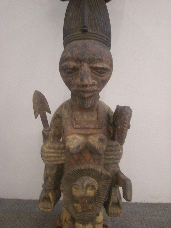 218: African Carved Wood Shrine Figure, Yoruba, attribu - 6