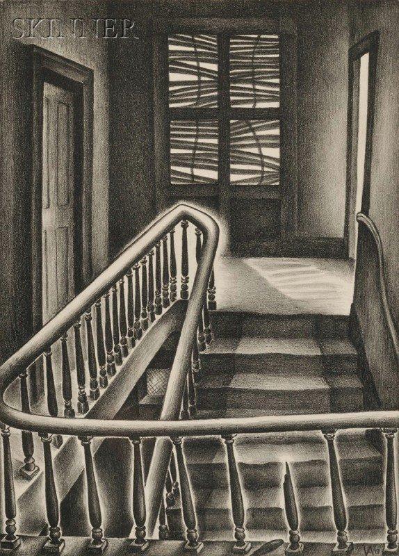 4: Vera Andrus (American, 1896-1979) Memory Stairs, 193
