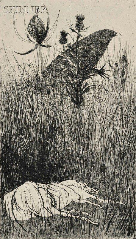 6: Leonard Baskin (American, 1922-2000) Lot of Two Imag