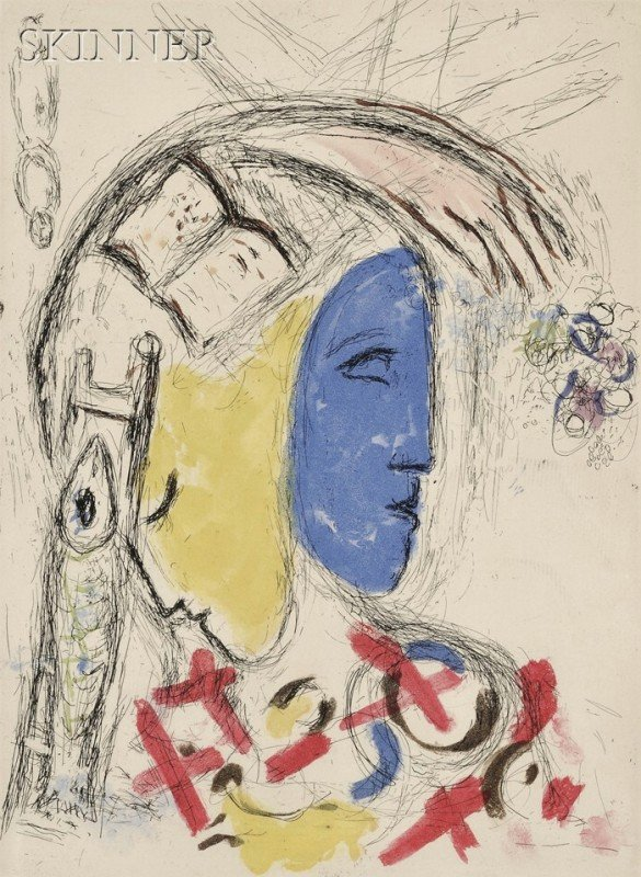 15: Marc Chagall (French/Russian, 1887-1985) Plate from