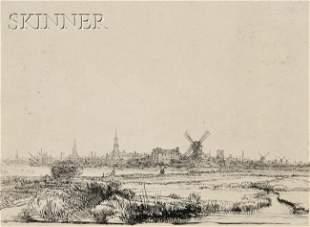101: Rembrandt van Rijn (Dutch, 1606-1669) View of Amst