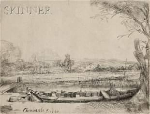 104: Rembrandt van Rijn (Dutch, 1606-1669) Canal with a