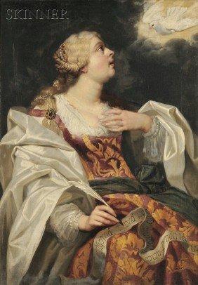 Flemish School, 16th Century Style Elegant Female