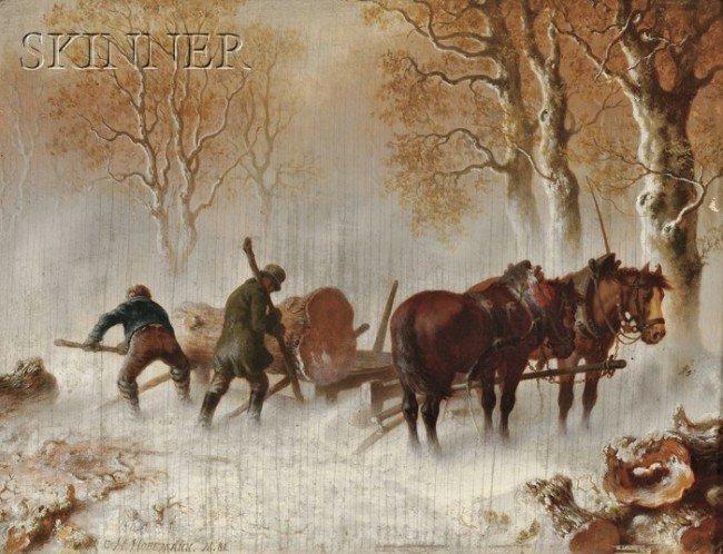 241A: Carl Heinrich Hoffmann (German, 1818-1896) Loadin