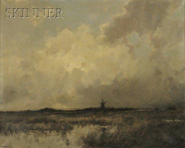 243: Dorus Arts (Dutch, 1901-1961) View of a Windmill o