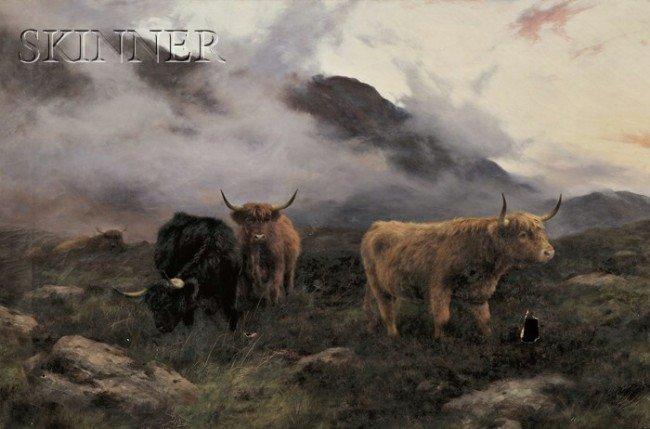 245: Peter Graham (Scottish, 1836-1921) Highland Cattle