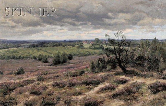 247A: Ernst Tannert (German, b. 1865) Spring Landscape