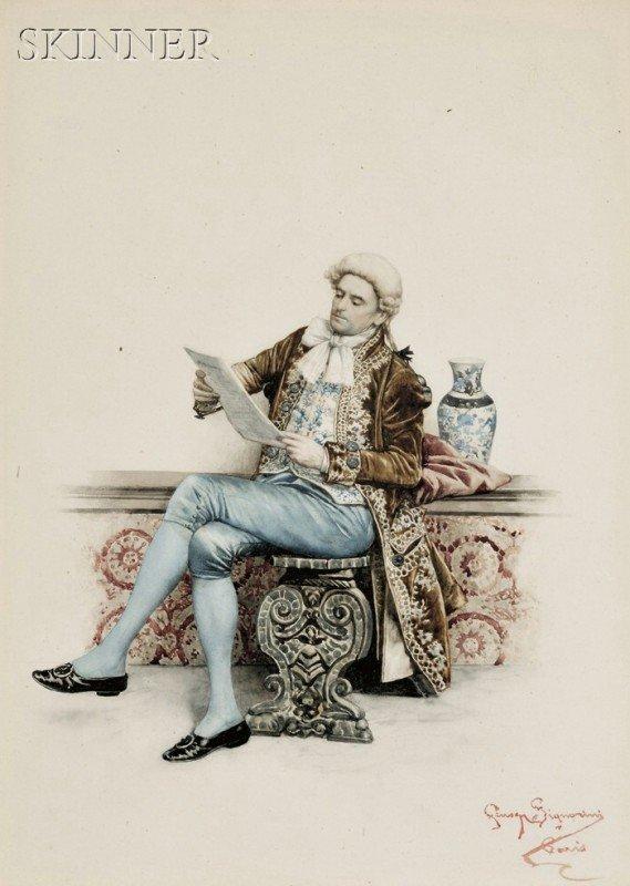 252: Giuseppe Signorini (Italian, 1857-1932) Gentleman