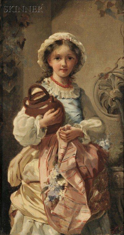 253: Continental School, 19th Century Portrait of a Gir