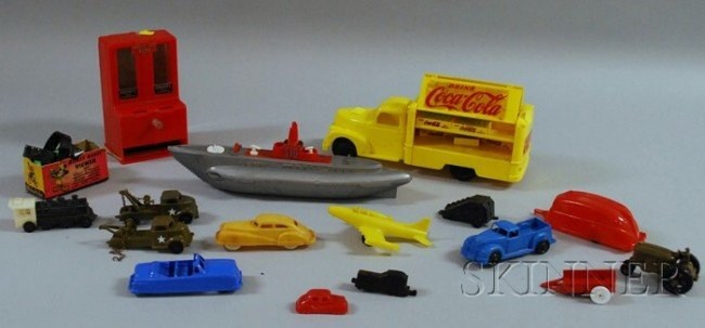 2: Group of Plastic Toy Vehicles and Other Toys, includ