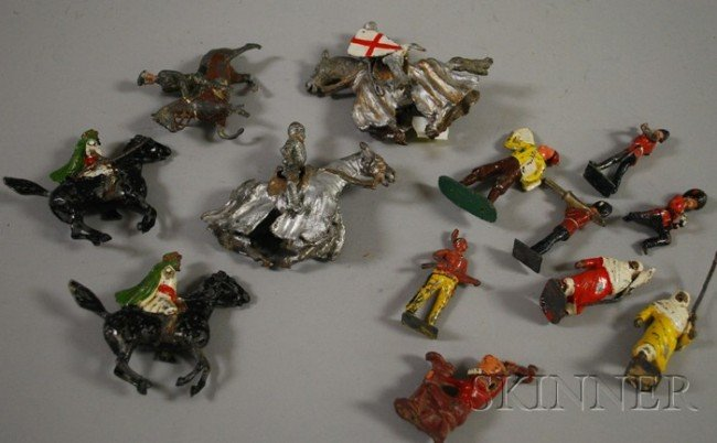 3: Fifteen Assorted Painted Lead Toy Figures, including