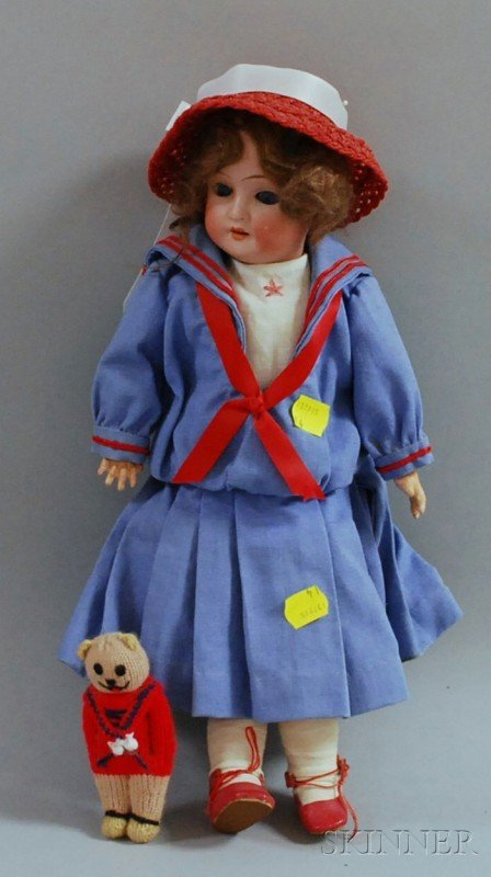 17: Simon & Halbig Bisque Head Doll, Germany, impressed