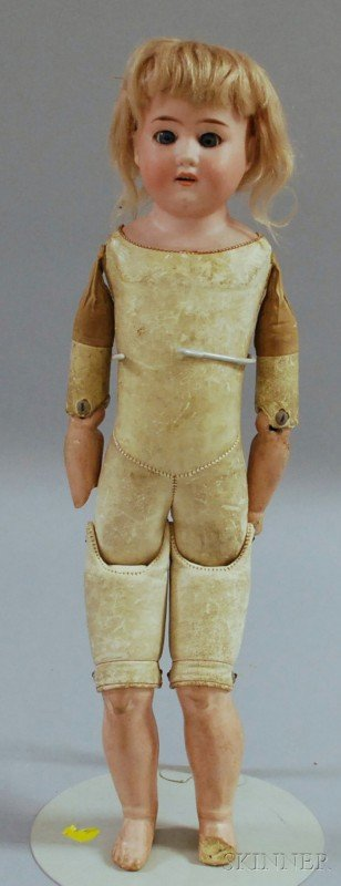 20: Armand Marseille Bisque Shoulder Head Doll, impress