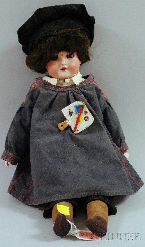 20A: Armand Marseille Bisque Shoulder Head Doll, impres