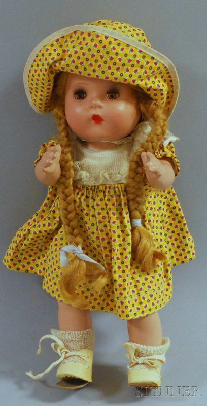 21: Horseman Composition Baby Doll, gold sleep eyes, cl