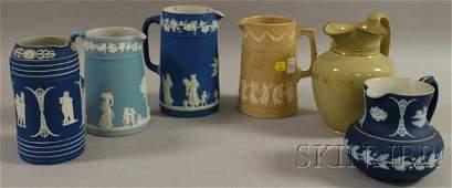 97: Six Assorted English Ceramic Jugs, including Wedgwo
