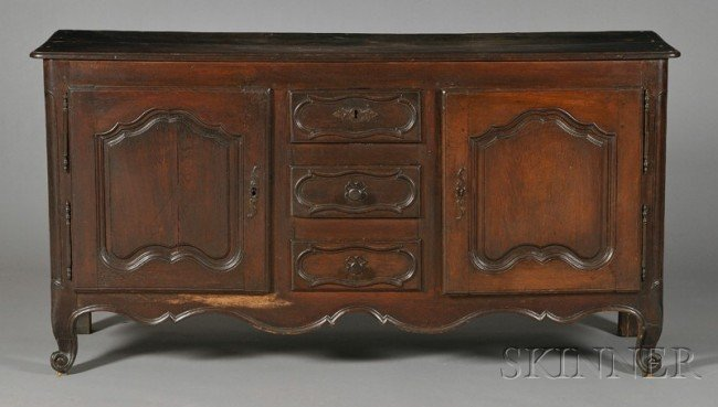 505: Louis XV Provincial Oak Sideboard, last quarter 18