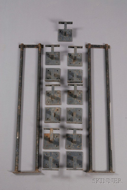 512: Fifteen Metal Brackets, square backplate with four