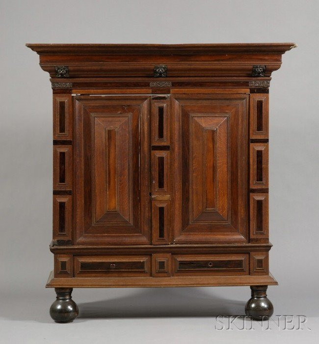 513: Flemish Baroque Oak and Rosewood Shrank, with 17th