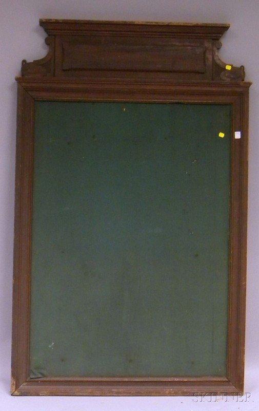 515: French Carved Oak Framed Bulletin Board, ht. 58 1/