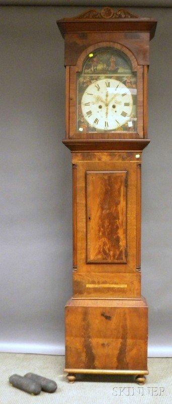 517D: Mahogany Tall Clock by James Knox, Paisley, Scotl