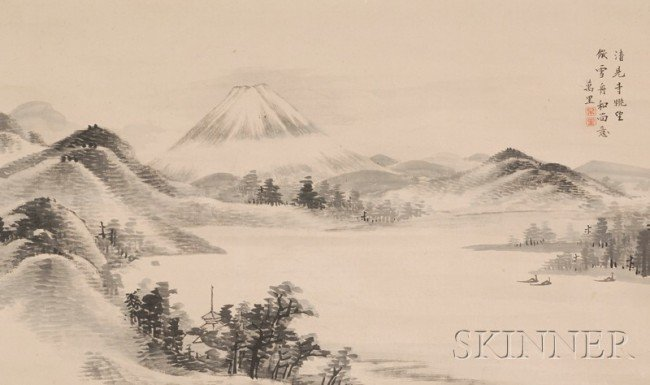 519: Japanese Painting, Japan, 19th century, ink and co