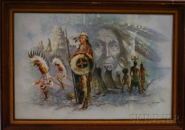 510: G. Bogard (American, 20th Century) Indian Chief. S
