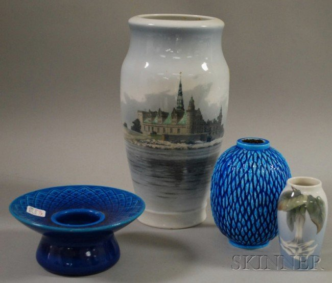 522: Three Pieces of Royal Copenhagen Porcelain and a R