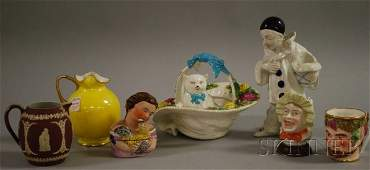 580: Seven Assorted Mostly English Ceramic Items and Fi