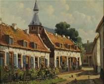 611: Erna Von Alphen (Dutch, 20th Century) Village Stre