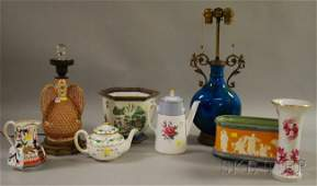 643: Eight Assorted Decorated Ceramic Table Items, a te