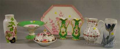 728 Eight Assorted Decorated Porcelain Table Items a
