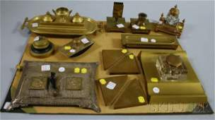 880 Large Lot of Assorted Bronze and Brass Desk Items