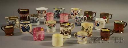 1051: Twenty-two Assorted Mostly English Ceramic Mugs,
