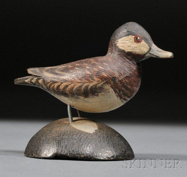 11: Miniature Ruddy Duck, A. Elmer Crowell (1862-1951),