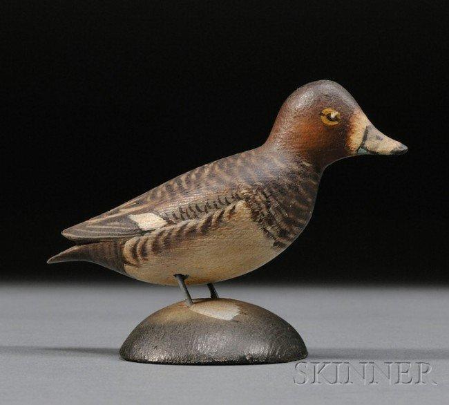 18: Miniature Red Head Hen, A. Elmer Crowell (1862-1951
