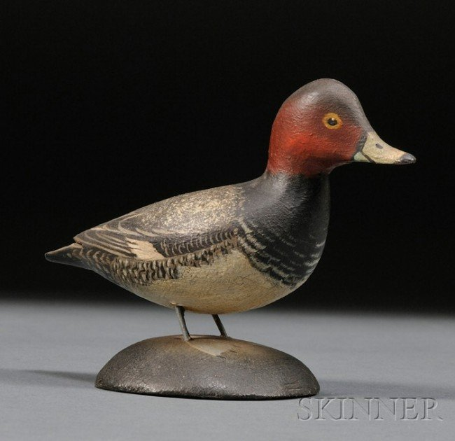 20: Miniature Red Head Drake, A. Elmer Crowell (1862-19