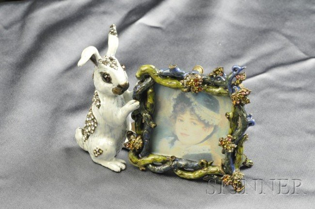 12: Enamel and Swarovski Crystal Rabbit Frame, Jay Stro
