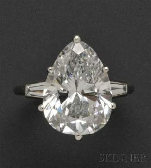 694: Platinum and Diamond Solitaire, Mounted by Cartier