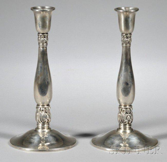 1: Pair of International Royal Danish Sterling Silver W
