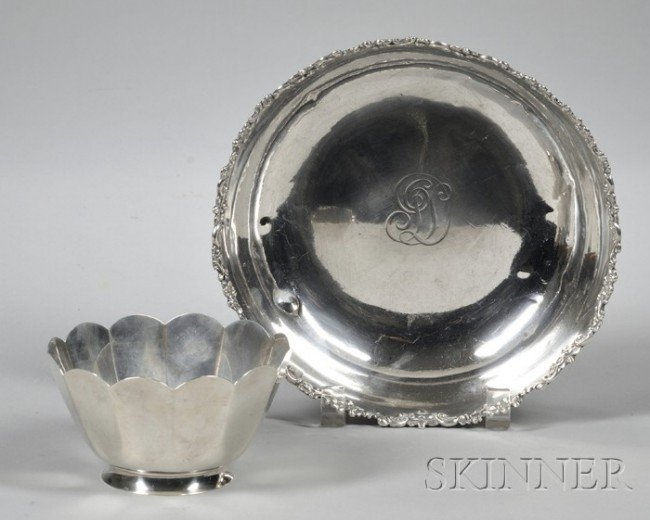 2: Two Tiffany Sterling Silver Bowls, paneled form, dia